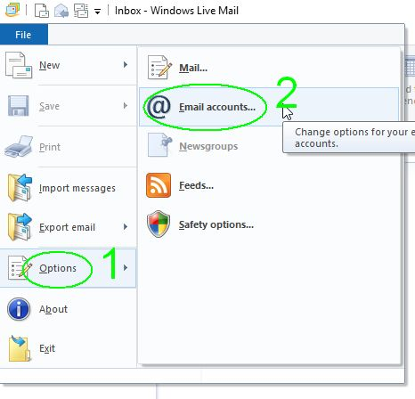 Windows-Live-Mail-Options