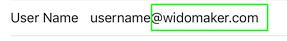 iOS-Username